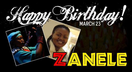 Happy Birthday Zanele!