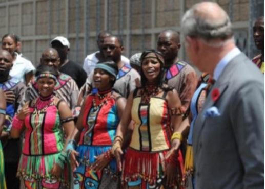 Photos: Choir Welcoming Prince Charles and Camilla