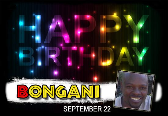 Happy Birthday Bongani!