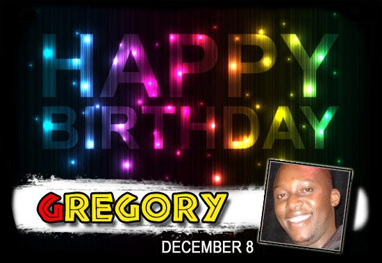 Happy Birthday Gregory!