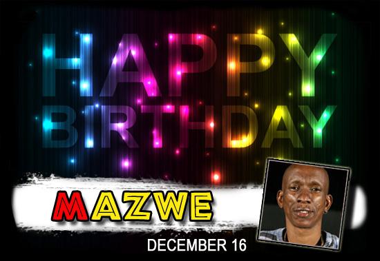 Happy Birthday Mazwe!