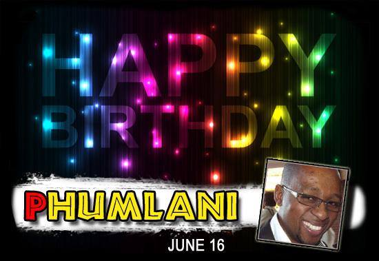 Happy Birthday Phumlani!