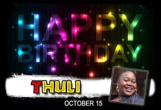 Happy Birthday Thuli!