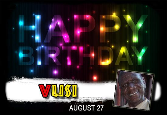 Happy Birthday Vusi!